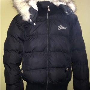 Women's Guess Puffer Winter Jacket